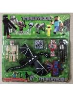Набор фигурок манкрафт Minecraft 6 предметов с драконом и пауком