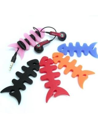 Рыбки фиксаторы для проводов наушников