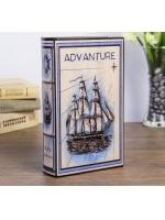 Книга сейф Морское приключение искусственная кожа