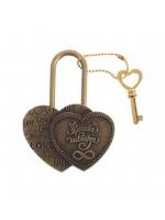 Свадебный замок с ключиком резной Бесконечность Love