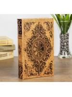 Книга сейф Медальон и вензеля искусственная кожа