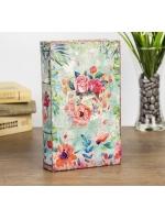 Книга сейф Цветы нарисованные акварелью искусственная кожа