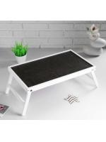 Столик для завтрака складной Ренессанс 50 х 30 см сосна цвет белый с черным