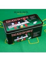 Покерный набор в металлической коробке на 200 фишек с сукном 60 х 90 см