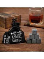 Набор камней для виски Крутому мужику 6 шт в текстильном мешочке