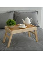 Столик для завтрака складной с веревочными ручками 50 х 30 см х 27 см