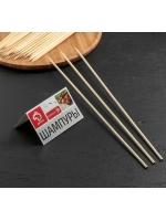 Набор шампуров шпажки деревянных 35 см толстые 45-50 шт