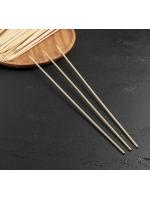 Набор шампуров шпажки деревянных 40 см круглые 45 шт