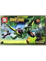 Конструктор Dinosaur 1505A Динозавр летающий зеленый 352 детали