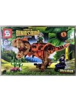 Конструктор Dinosaur 1505B Динозавр Рекс коричневый 390 детали