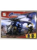Конструктор Heroes Assemble Мстители SY1418D Капитан Америка Вертолет