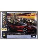 Настольная игра Пазл Красная Машина 1500 элементов