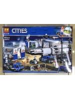 Конструктор Lari Cities 11388 Площадка для сборки и транспорт для перевозки ракеты