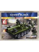 Конструктор Sembo Block 105472 Китайский основной боевой танк Тип 59