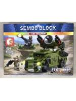 Конструктор Sembo Block 105474 Противовоздушная установка Red Flag 7