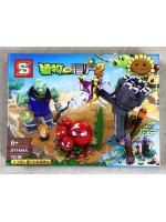 Конструктор SY1494A Растения против Зомби 2 Зеленый зомби в синем жакете