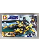 Конструктор DLP454 Super Heroes Черная вдова 129 деталей