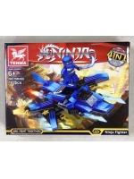 Конструктор Tenma Ninja TM6308 Синий турболет 102 деталей