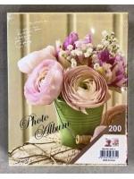 Фотоальбом 200 фото 10х15 см Живые цветы в ведерке