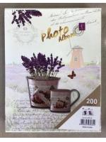Фотоальбом 200 фото 10х15 см Цветы в ведерке с леечкой