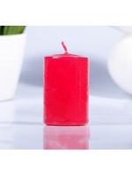 Свеча цилиндр парафиновая цвет Красный 4х6 см