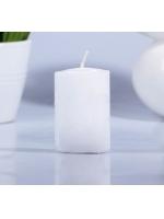 Свеча цилиндр парафиновая цвет Белый 4х6 см