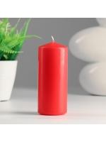 Свеча цилиндр парафиновая цвет Красный классика 5х12 см