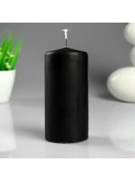 Свеча цилиндр парафиновая цвет Черный 6х12,5 см