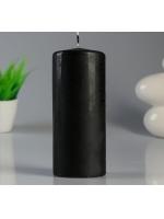 Свеча цилиндр парафиновая цвет Черный 7х17 см