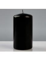 Свеча цилиндр парафиновая цвет Черный 7х13 см лакированная