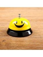 Звонок настольный Смайл 6 см × 6 см × 7,5 см