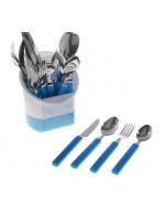 Набор столовых приборов в синем цвете