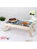 Столик складной деревянный для завтрака Камень 48 х 28 см