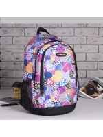 Рюкзак подростковый Сердца 32*17*46 отдел на молнии фиолетовый