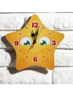 Часы настенные детские Звездочка 24 см в ассортименте