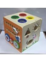 Набор игровой деревянный куб сортировщик жирафик