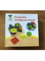 Деревянная игрушка фигурки на стойке с геометрическими фигурами