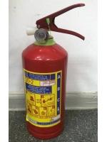 Огнетушитель порошковый ОП-2 в металлическом корпусе 2 литра автомобильный