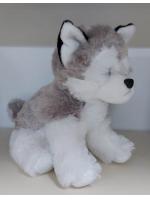 Собачка мягкая игрушка Хаски сидячая 25 см
