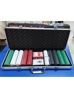Покерный набор в металлическом кейсе на 500 фишек