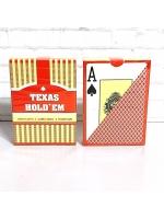 Карты 100% пластик игральные Texas Hold'em 54 шт 30 мкм