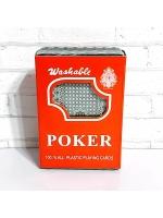 Карты 100% пластик игральные Poker 54 шт 28 мкрн