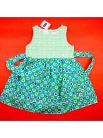 Платье для девочки зеленое с зеленым пояском